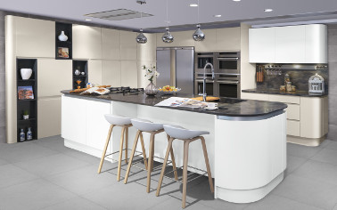 Inspiring you with new curved kitchen cabinets