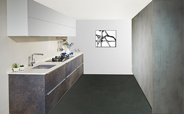 A highly functional kitchen embraced by simplicity and elegance