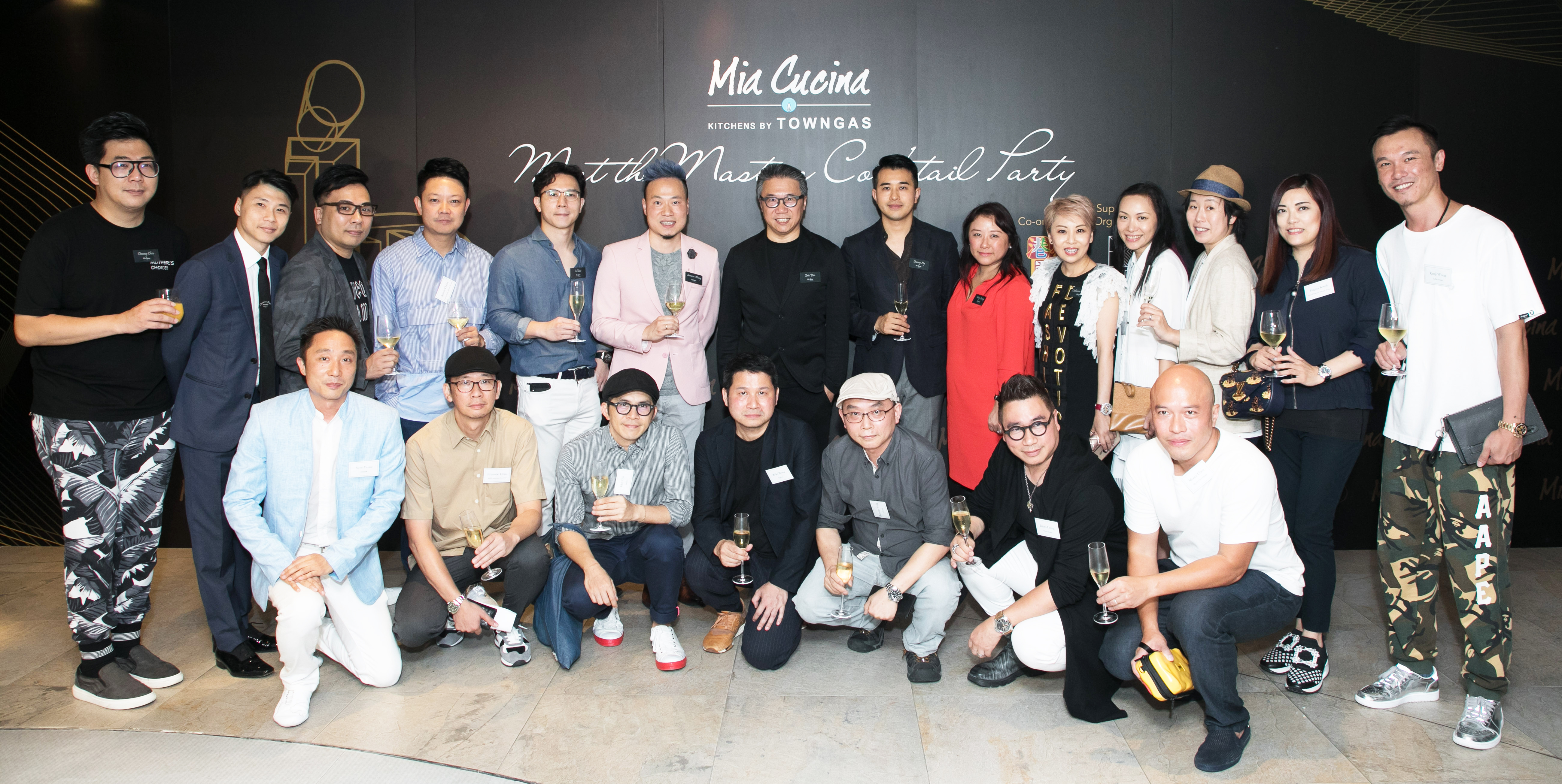 "Mia Cucina x HK Heart TV co-organized ""Meet the Masters' Cocktail Party"" and the debut of the video trailer "" Institute of Kitchen Design"""